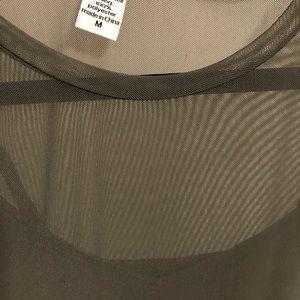 Bar iii green mesh dress medium